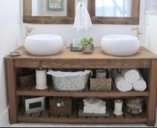 Mueble baño madera palets