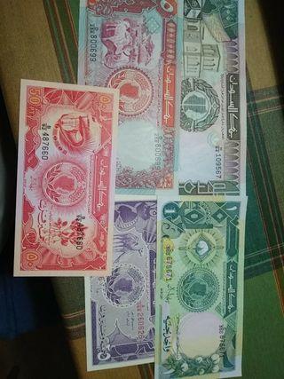 LOTE DE 5 BILLETES SUDAN