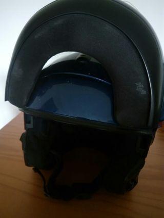 casco moto abatible