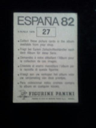 Cromo del album España 82 Panini