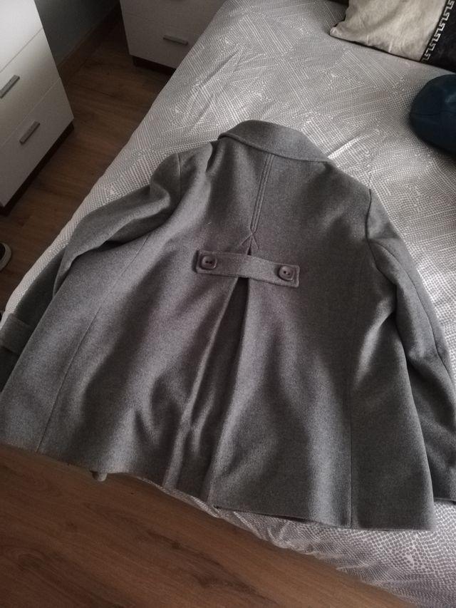 abrigo paño mujer