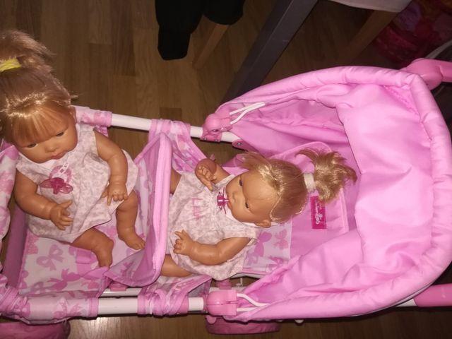 Carrito de juguete de gemelos