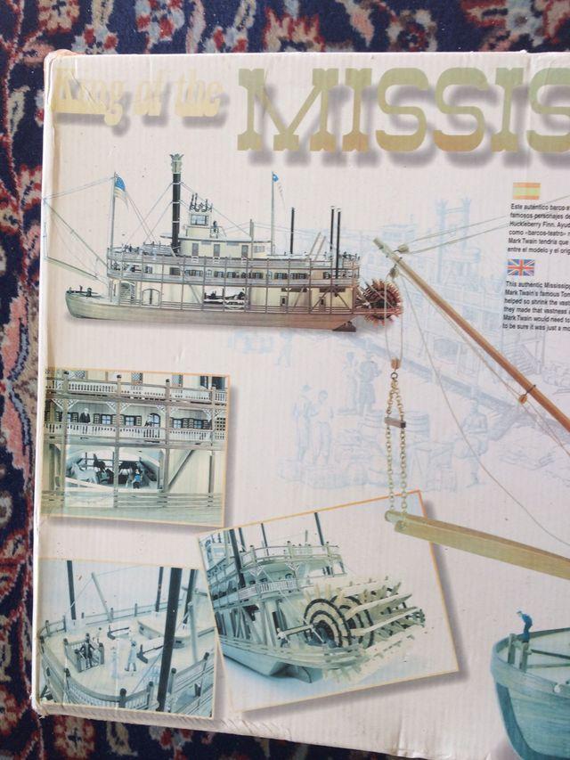 Maqueta del Mississippi escala 1:80