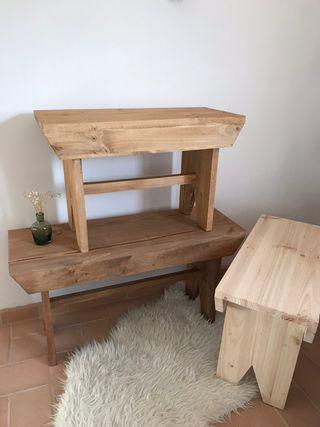 Bancos de madera estilo nórdico a medida
