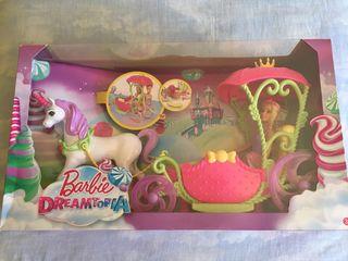 Muñeca Barbie Dreamtopia con carruaje unicornio