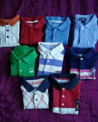 Lote 7 Polos Mayoral, Benetton y Ralph Lauren