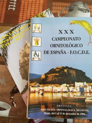 libros campeonatos ornitológicos