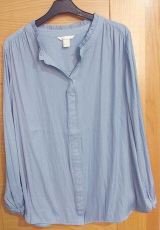 Camisa Pre-Mamá azul H&M a estrenar (invierno)