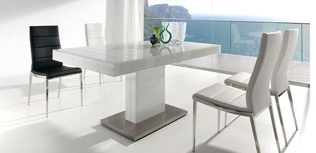 Mesa comedor diseño. Cristal blanco de segunda mano por 800 € en ...