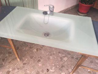 Lavabo+espejo+foco leds