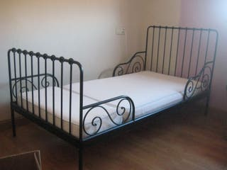 Cama+somier+colchón látex extensibles