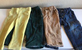 Lote 4 pantalones niño 1/2 años