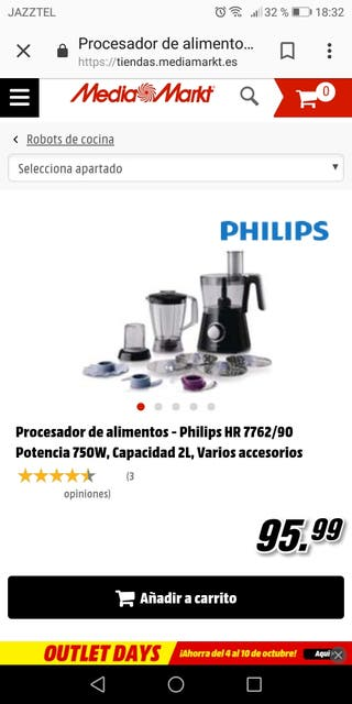 Robot de cocina Philips multifunción
