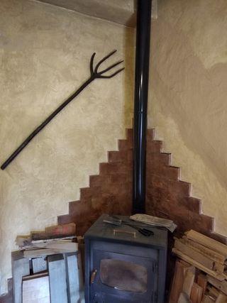 Rastrillo horca de madera