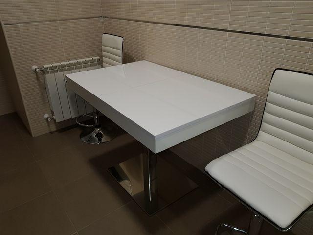 Mesa Cocina Blanca De Segunda Mano Por 290 En Colmenar Viejo En - Mesa-cocina-blanca