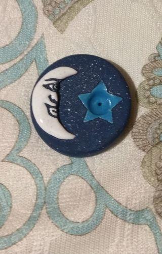Incensario de cerámica con luna ¡nuevo!