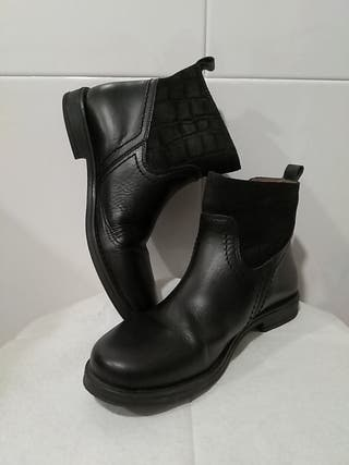 botas de piel niña