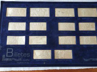 Colección de billetes de España en plata