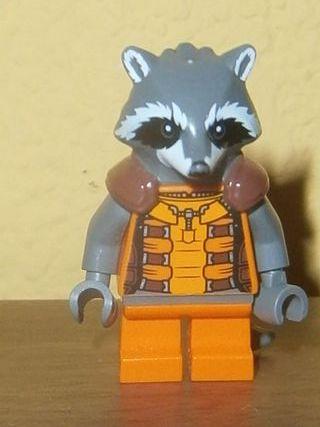 FIGURITA LEGO ROCKET R. MAPACHE COHETE. GUARDIANES