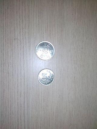 monedas ,pesetas