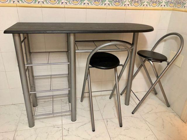 Mesa/barra cocina de segunda mano por 40 € en Málaga en WALLAPOP