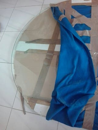 cristal ovalado mesa