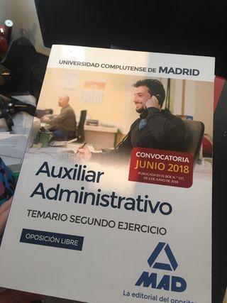 MAD Auxiliar administrativo UCM