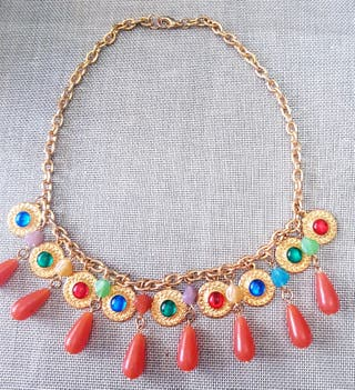 collar vintage chapado en oro
