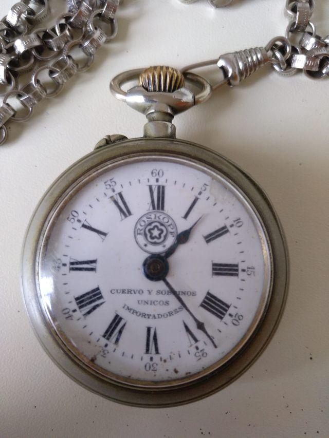 40b7f5293 Reloj de bolsillo Cuervo y Sobrinos,Roskopf Habana de segunda mano ...