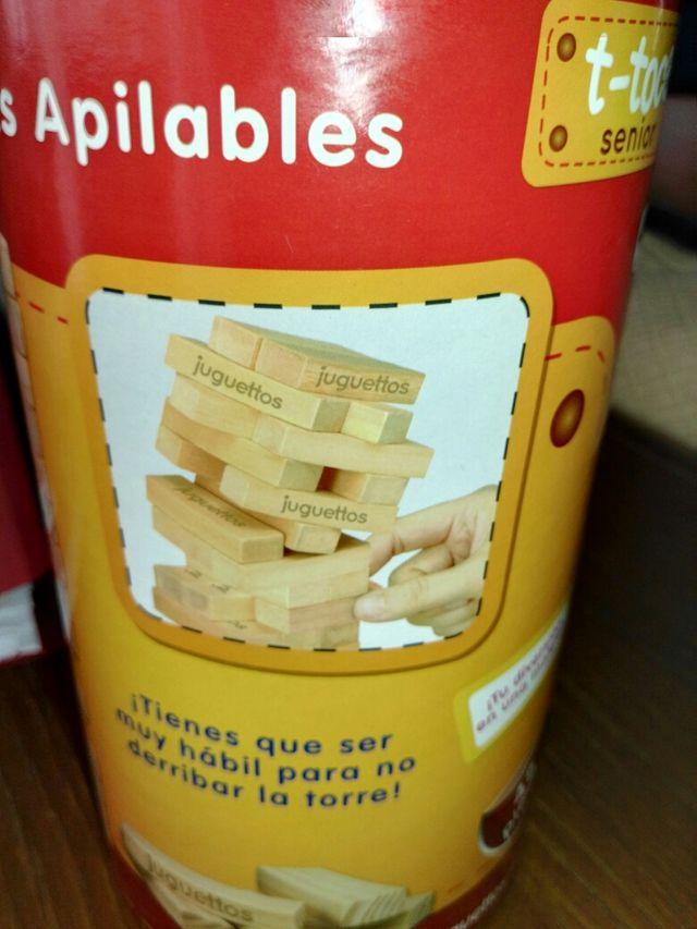 bloques apilables para niños +4 años.