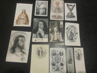 Lote de 12 Estampas religiosas antiguas