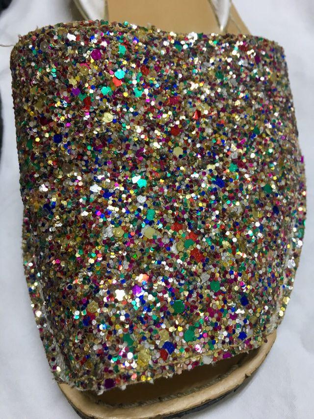 Avarca niña con glitter
