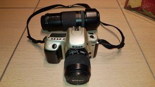 Cámara fotos réflex analógica Nikkon F50.
