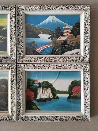 lote cuadros japoneses