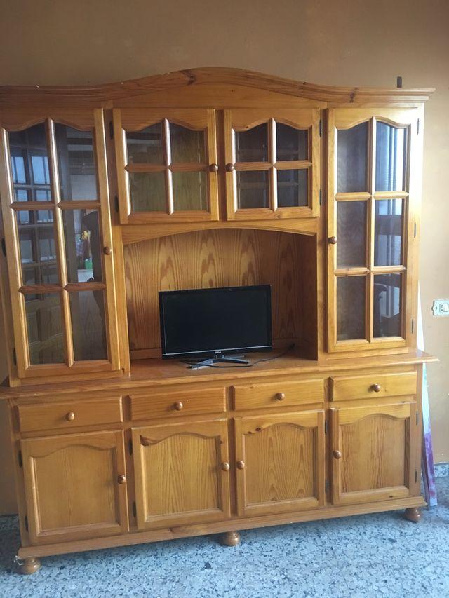 Mueble cocina sala aparador pino miel de segunda mano por 275 € en ...