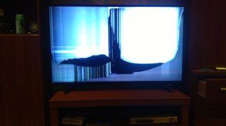 televisor smartv lg 49uh610v pantalla rota