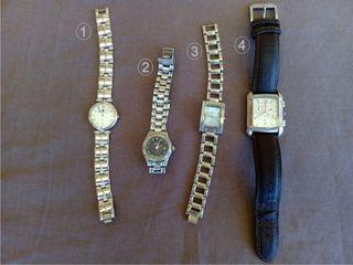 4 Relojes, todos juntos o separados