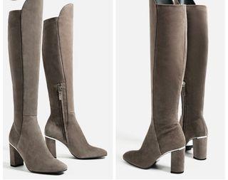 Botas de ante gris