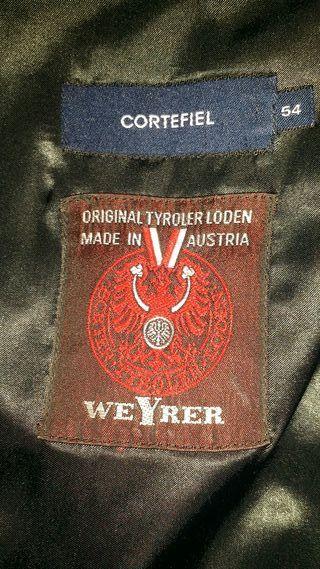 Abrigo Loden Austriaco. talla 54 color negro