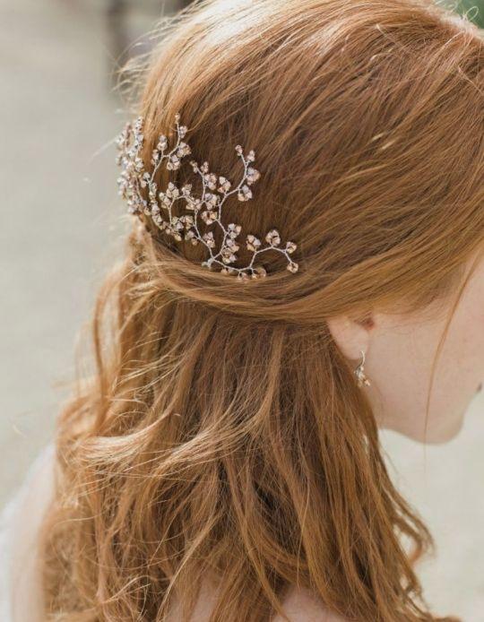 Joya para el pelo de novia de microperlas Nueva!