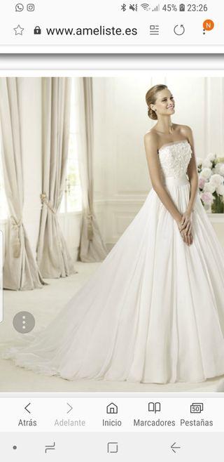 vestido de novia pronovias de segunda mano en málaga en wallapop