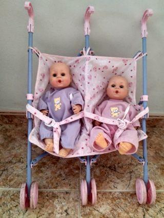 Carrito con dos bebés