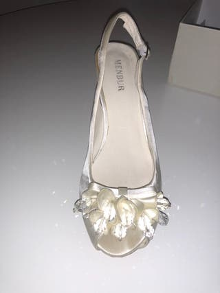 zapatos de novia de segunda mano en terrassa en wallapop