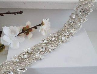 Cinturón para vestido de novia o fiesta 70cm 100€