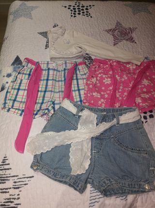 pantalón corto y bolero de prenatal