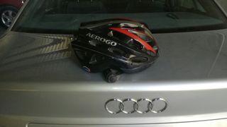 casco con regulador para bicicleta