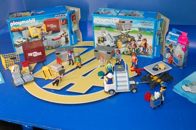 Lote 3 cajas Playmobil- PASAJEROS AL AVION
