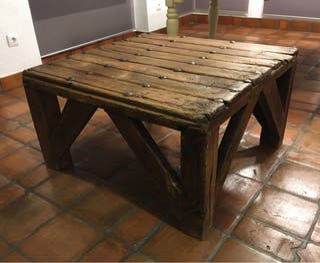 Mesa de centro madera rústica