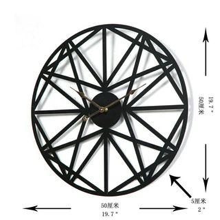 50CM Creative Retro Round Wall Clock