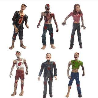 se vende 6 figuras de zombies